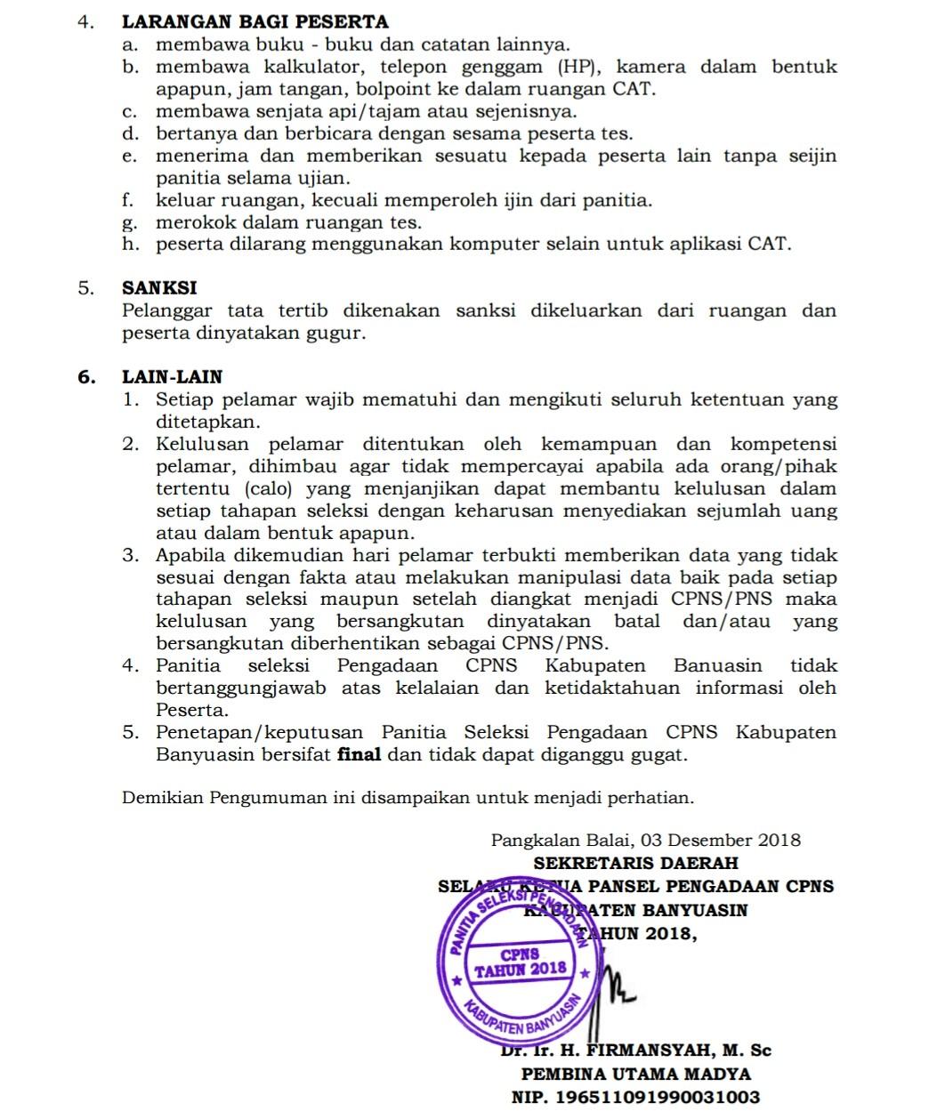 PENGUMUMAN JADWAL SELEKSI KOMPETENSI BIDANG KAB BANYUASIN TAHUN 2018(2)